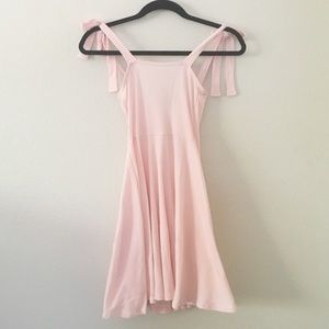NWT Nasty Gal Pink Ribbed Mini Dress